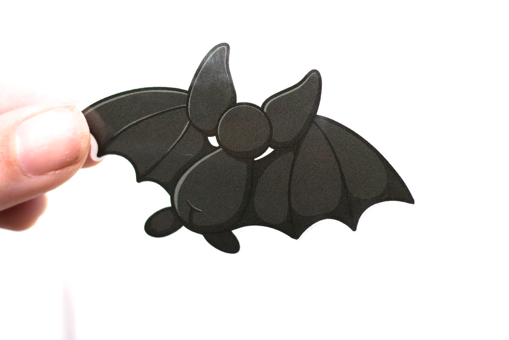 Bat Sticker - Black Bat Back, Cute Sticker, Kawaii, Vinyl Sticker, Stickers, BeeZeeArt