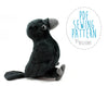 Crow Stuffed Animal Sewing Pattern  - Digital Download - BeeZeeArt - 1