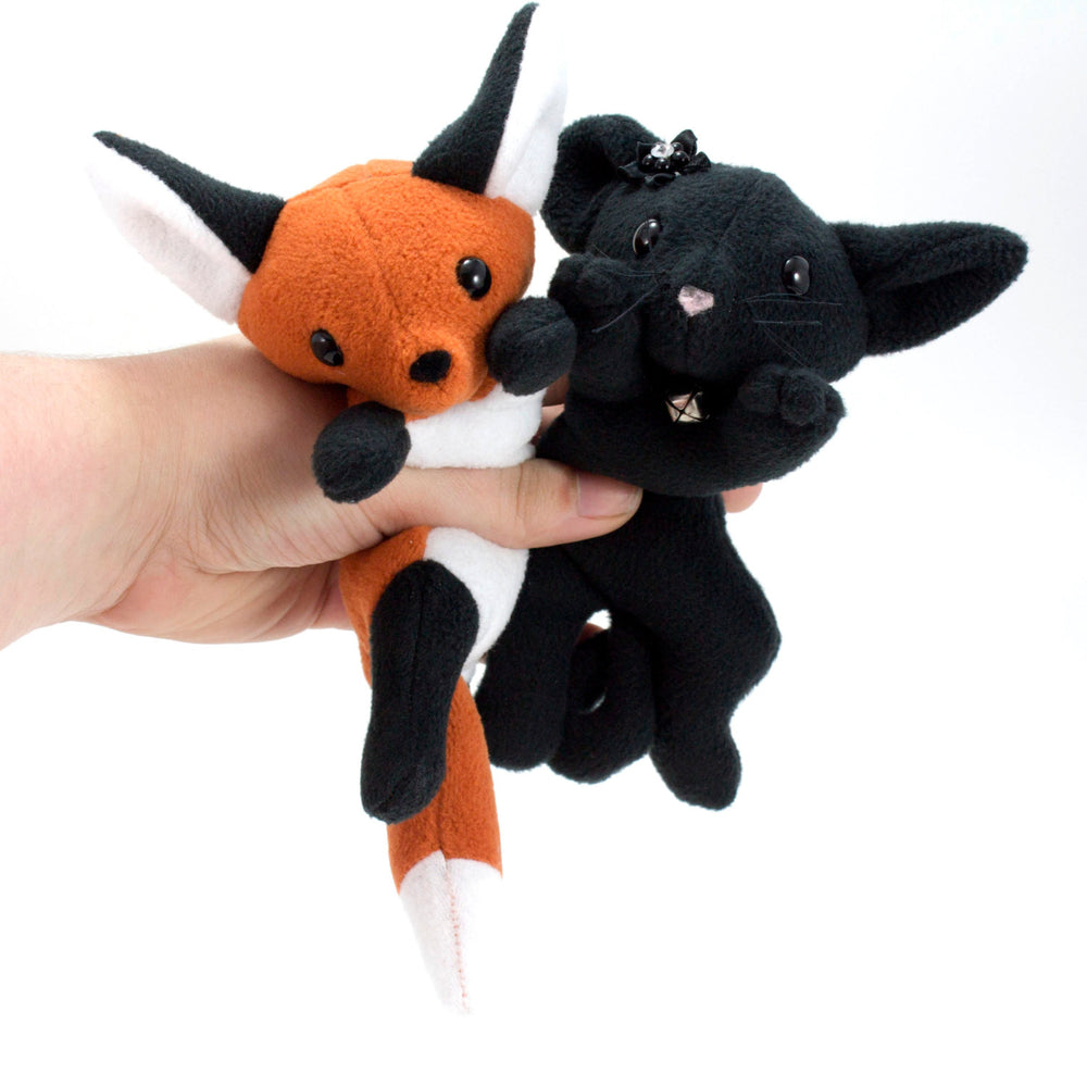 Fox and Cat Stuffed Animal Sewing Pattern - Digital Download, Pattern, BeeZeeArt