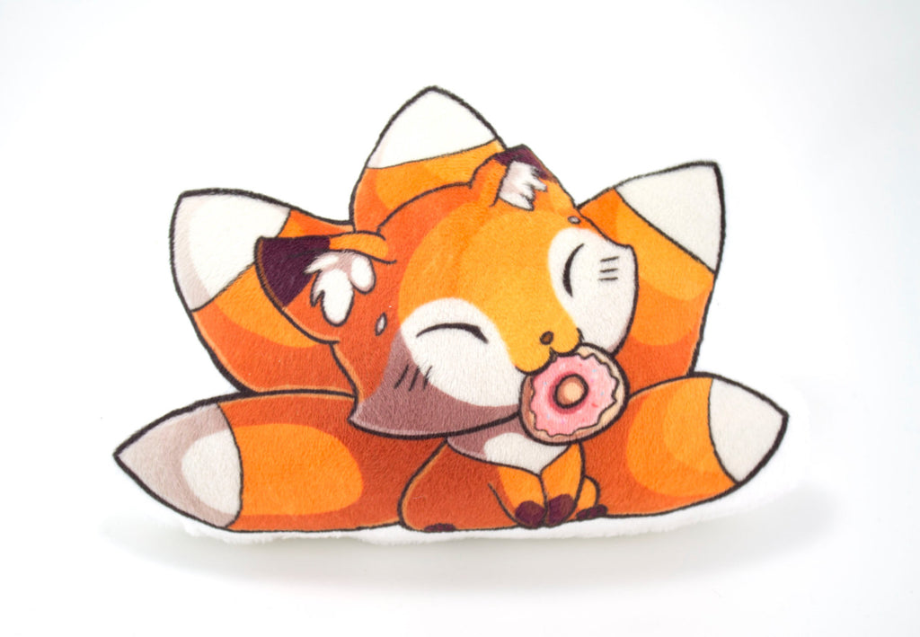 Cute Fox Pillow Plushie, Plush Toy, Stuffed Animal - BeeZeeArt - 2