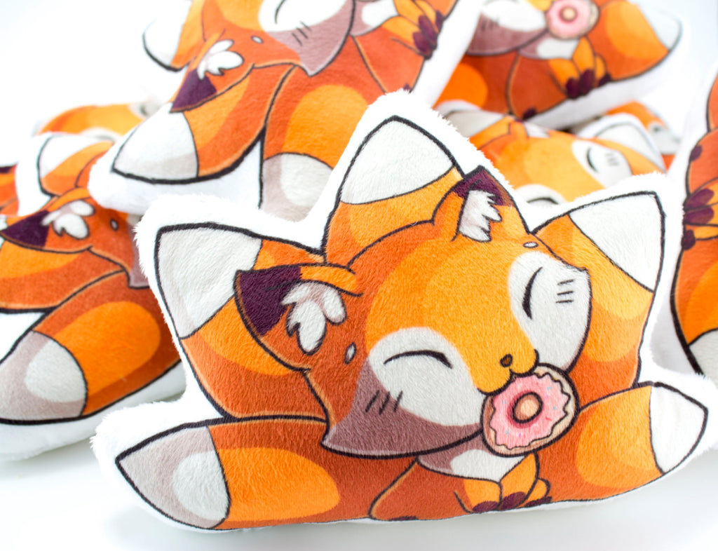 Cute Fox Pillow Plushie, Plush Toy, Stuffed Animal - BeeZeeArt - 1