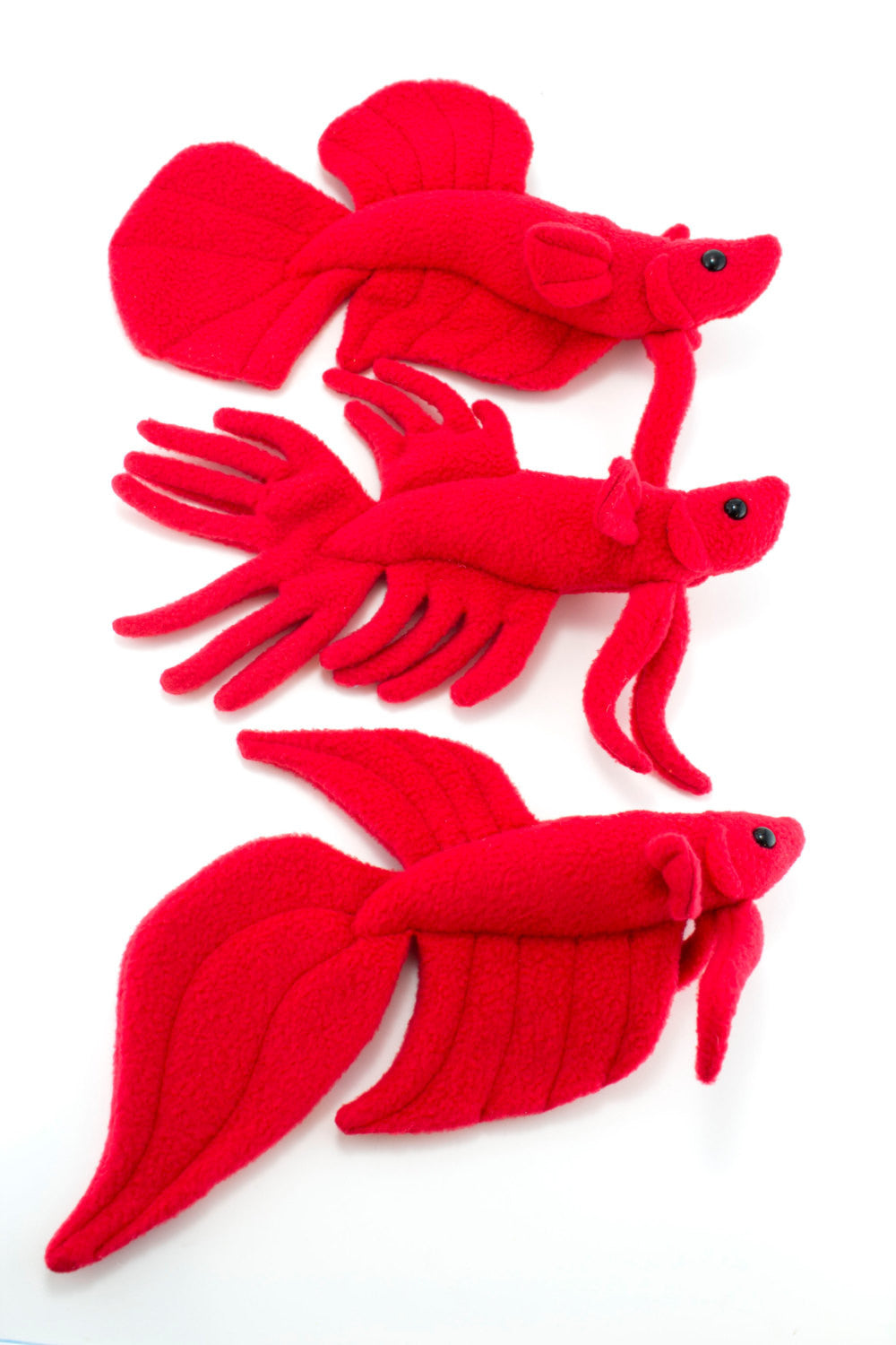 Betta Fish Stuffed Animal Sewing Pattern Digital Download Beezeeart
