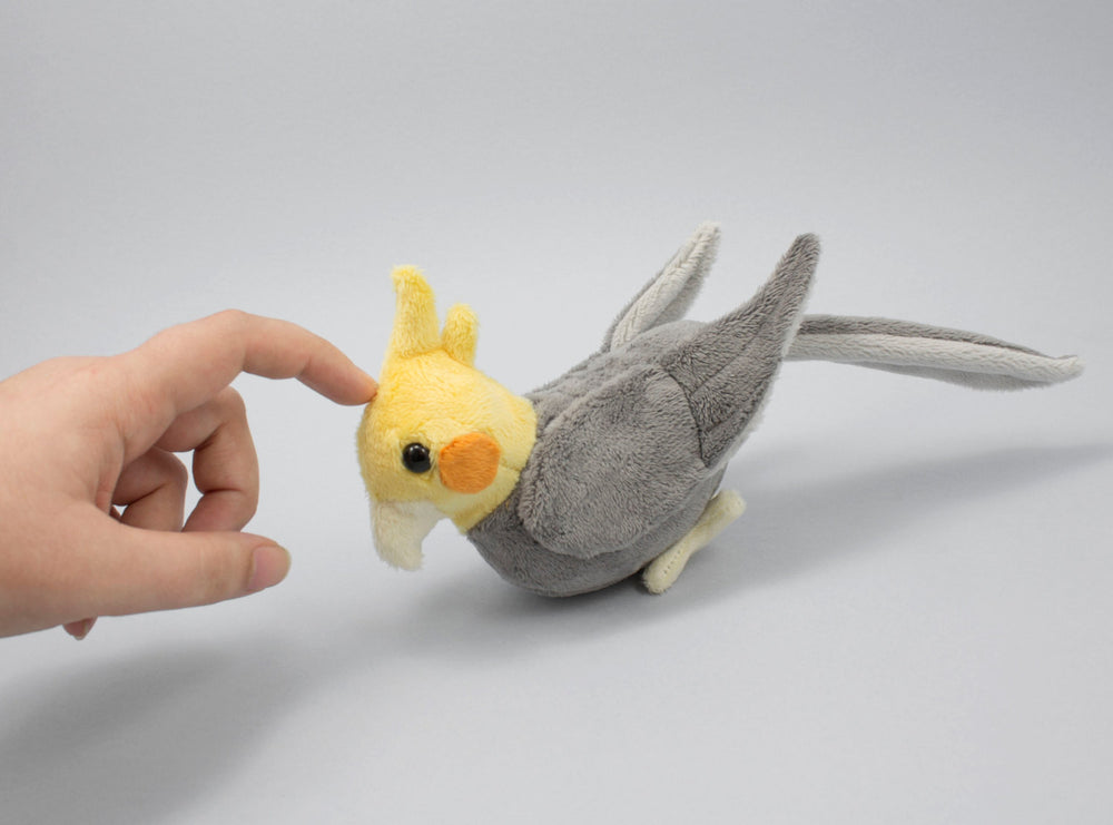 Cockatiel Stuffed Animal Sewing Pattern  - Digital Download, Pattern, BeeZeeArt