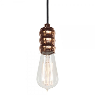 Rose Gold Copper Holder Without Bulb
