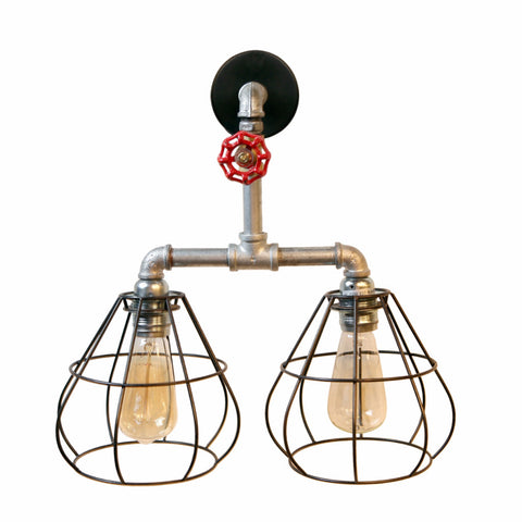 Steampunk Red Knob Wall Light - Ivanka lumiere