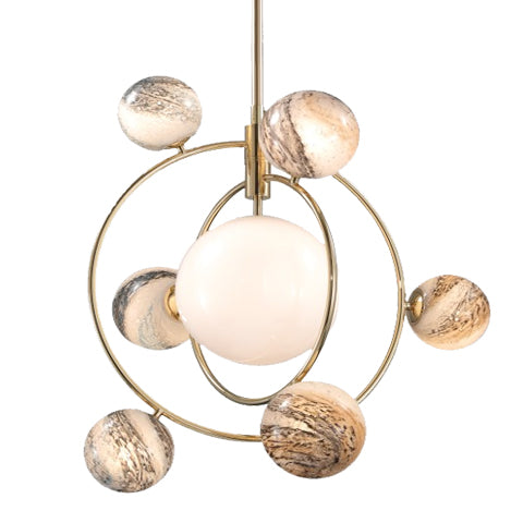 Creative and Luxurious Planetary Orbit Chandelier 7 Head | Ivanka Lumiere