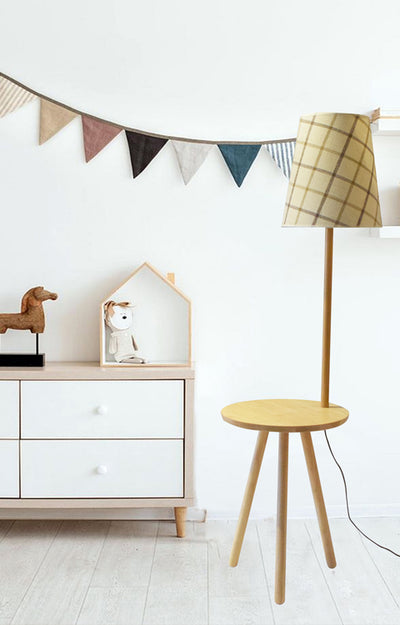 Wooden Tray Floor lamp