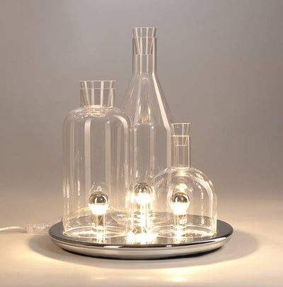 WINE BOTTLE GLASS TABLE LAMP