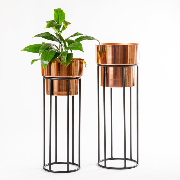 BARREL COPPER PLANTER