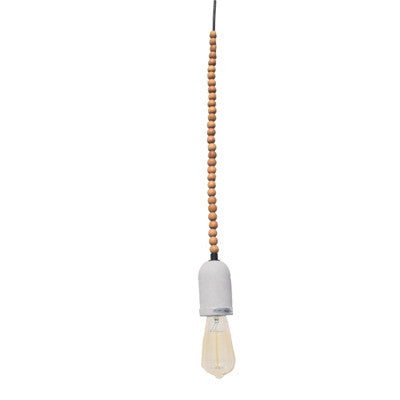 Wooden Beads Concrete Holder - Ivanka lumiere