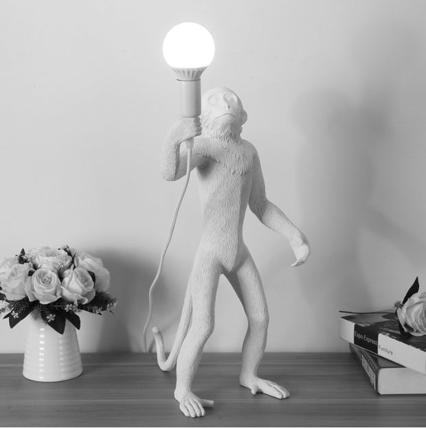 Quirky White Monkey Floor Light I Seletti Replica