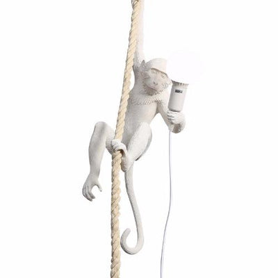 Quirky White Monkey pendant Light I Seletti Replica