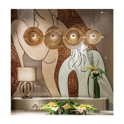 CASABLANCA GLASS DISC CHANDELIER | Ivanka Lumiere