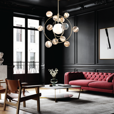 Creative and Luxurious Planetary Orbit Chandelier 13 Head