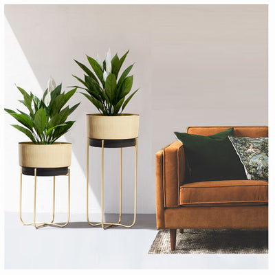 BEIGE QUADRILATERAL PLANTER