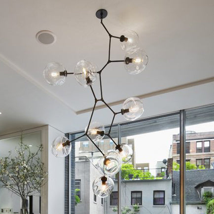 BRANCHING BUBBLE Vertical Chandelier