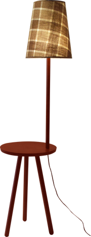 Oak Wooden Tray Floor lamp
