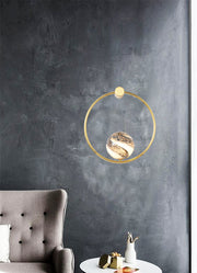 Gold Ringed Planet Globe Wall Light