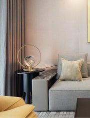 Gold Ringed Planet Globe Table Lamp