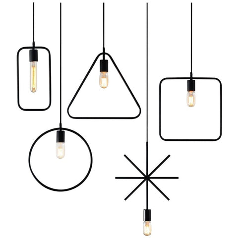 Geometric Frames Pendant Light - Ivanka lumiere