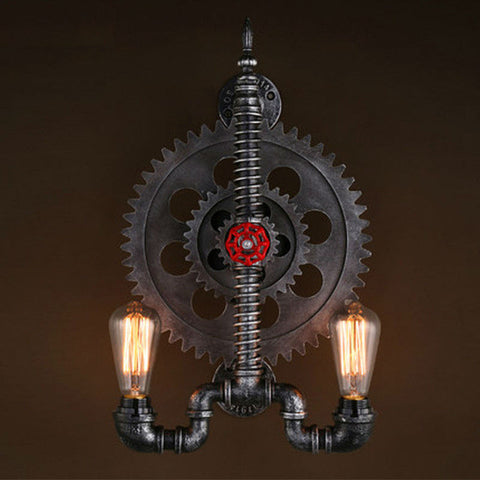 Industrial Gear Iron Pipe Light - Ivanka lumiere