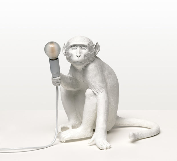 Hemp rope white hanging Monkey Table light | Seletti Replica