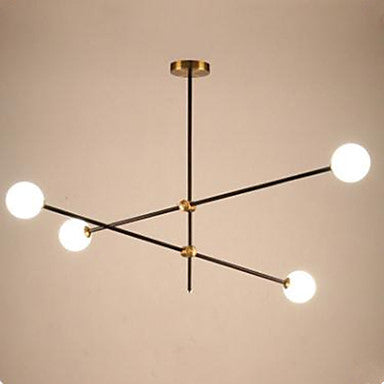 Nordic Minimalist Adjustable Iron Glass Ball Chandelier