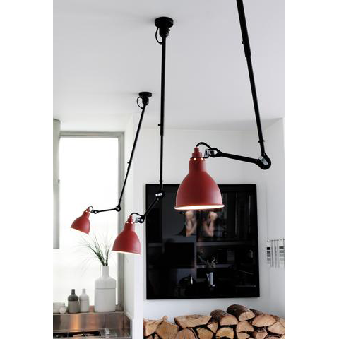 Swing Arm Ceiling Light- Red