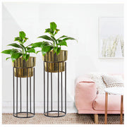 BARREL GOLDEN PLANTER