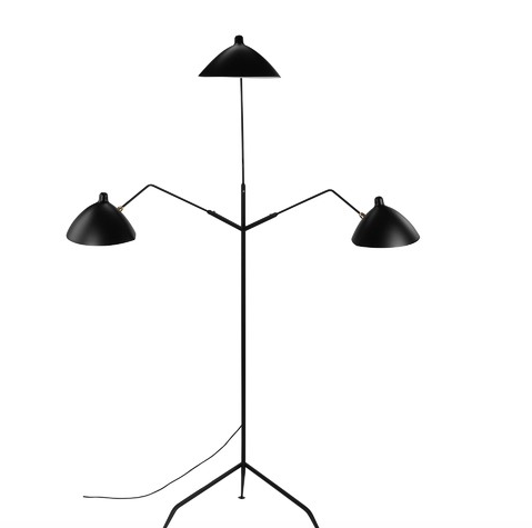 Three Arm Tripod Arched Floor Lamp