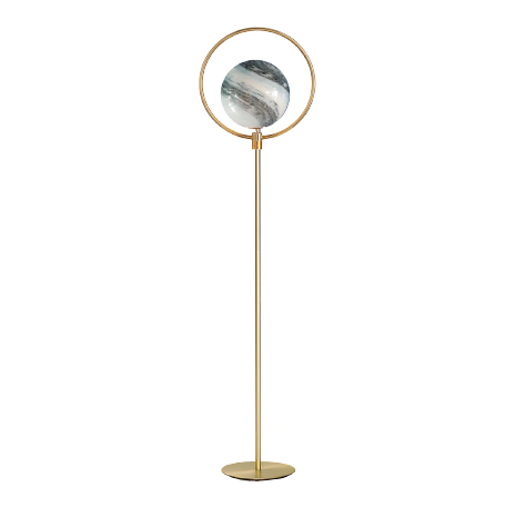 Gold Ringed Planet Globe Floor Lamp | Ivanka Lumiere