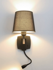 Black Lamp Shade with Twisted Led