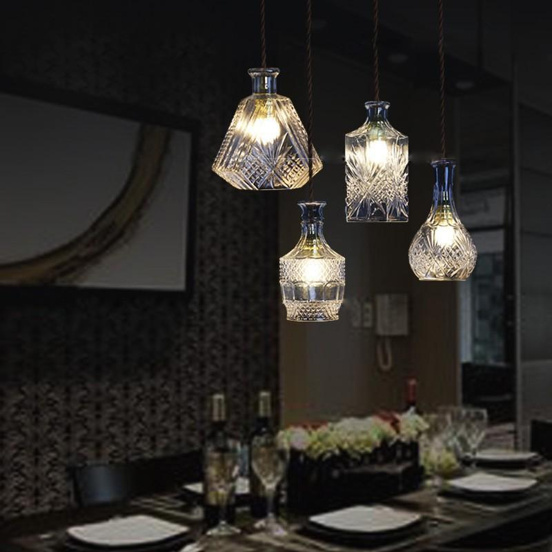 Gorgeous Vintage Wine Bottle Pendant Lights