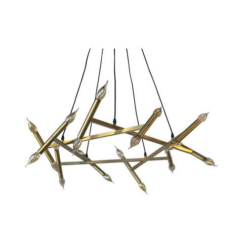 Royale Brass finish Candelabra Chandelier