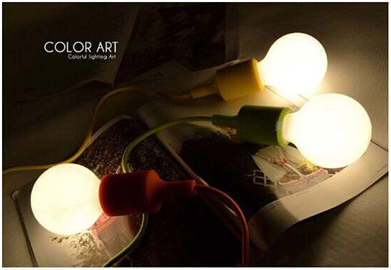 Colorful Pendant Cord CFL or LED - Ivanka lumiere  - 6