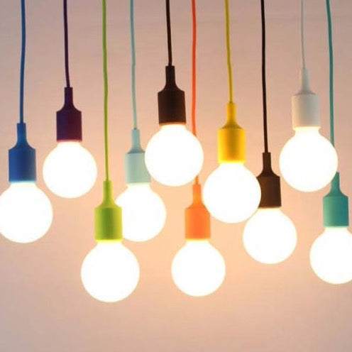 Colorful Pendant Cord CFL or LED - Ivanka lumiere  - 2