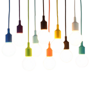 Colorful Pendant Cord CFL or LED - Ivanka lumiere  - 1
