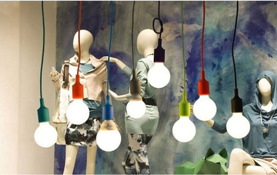 Colorful Pendant Cord CFL or LED - Ivanka lumiere  - 5