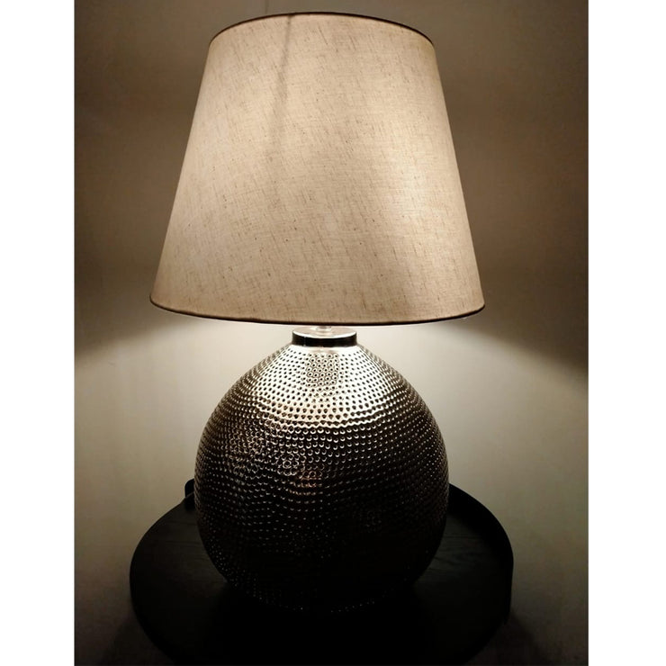 Antique Hammered Pot  Table Lamp