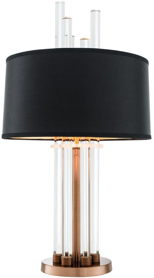 Crystal Pillars Table Lamp