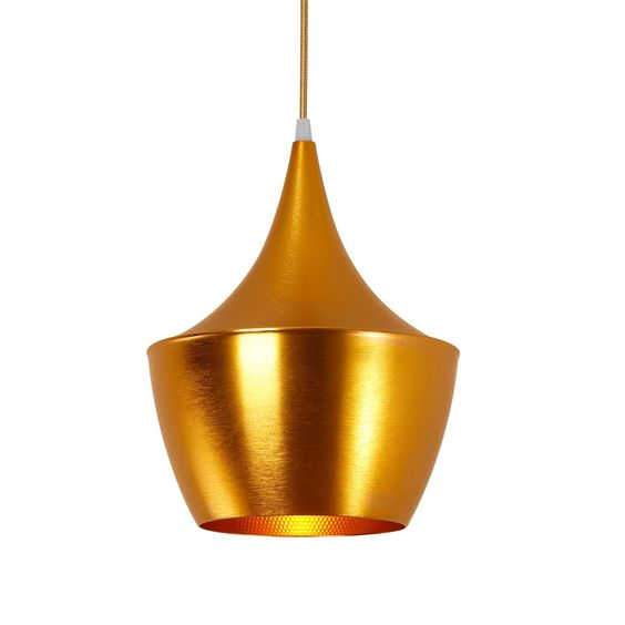 Gilt Fat Pendant Light