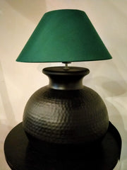 Matt Black Hammered Lamp