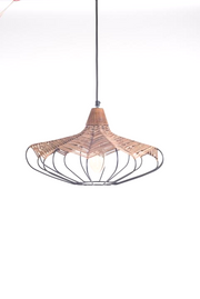 Seagrass Wireframe Hanging Lamp