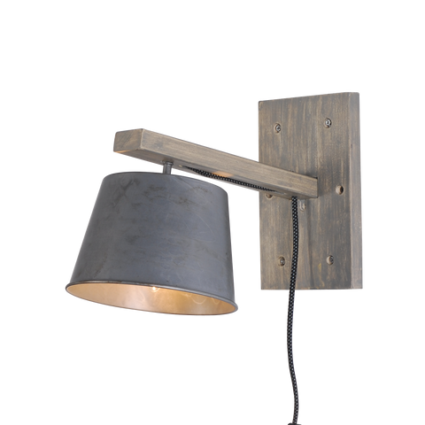Rustic Wood base Wall Light - Ivanka lumiere