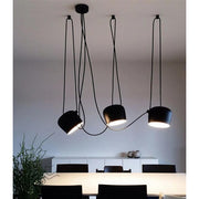 Spotlight pendant adjustable LED - Black powdercoating