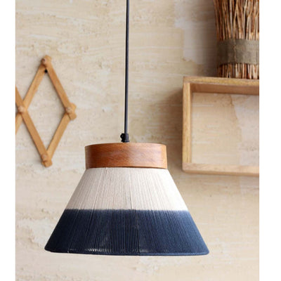 Organic Ombre Hanging Lamp Conical