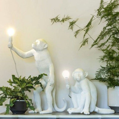 Quirky White Monkey Desk Light I Seletti Replica