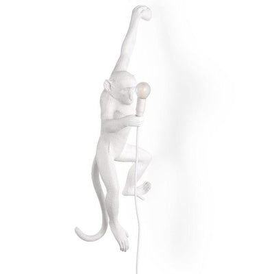 Hemp Rope White Hanging Monkey Wall Light | Seletti Replica