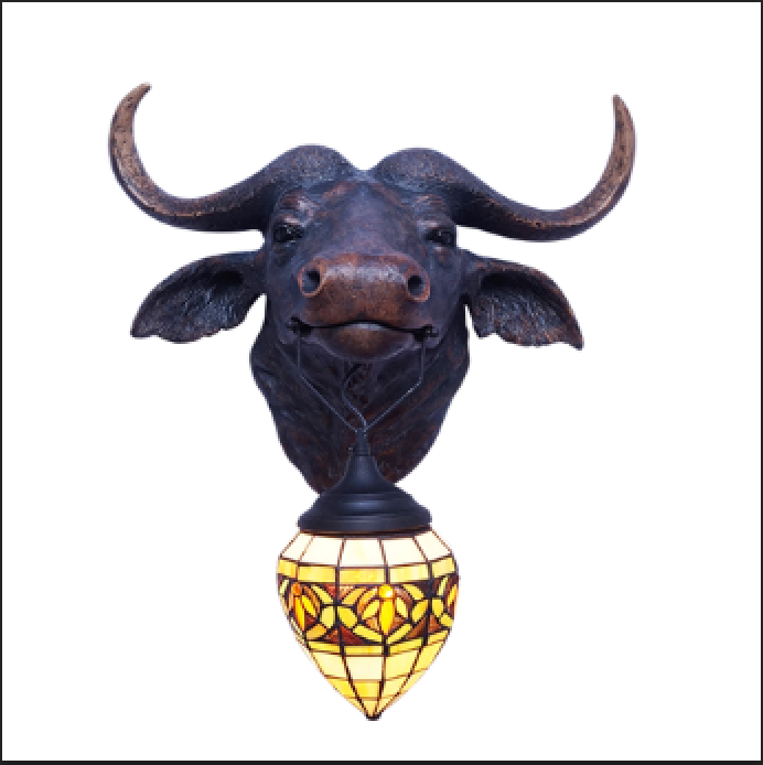 Bison Guard Wall Light