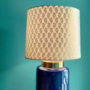 Blue Cylindrical  Table Lamp